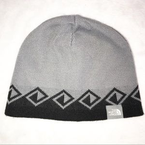 The North Face Grey Black Beanie Hat One Size
